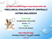 preclinical evaluation of analgesics