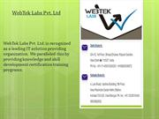 JAVA Training Course from WebTek Labs