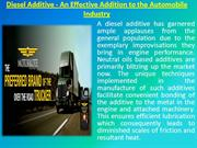Diesel Additive - An Effective Addition to the Automobile Industry