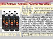 Fuel Additives - Additional Power for Your Vehicle