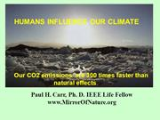 Humans Influence our climate