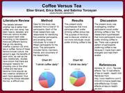 Research Methodology: Coffee Versus Tea