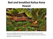 Bed and breakfast Kailua Kona Hawaii