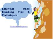 Rock Climbing Gears and Accessories