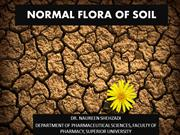 NORMAL FLORA OF SOIL
