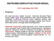 INSTRUMEN DERIVATIF PASAR MODAL
