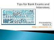 Tips for Bank Exams and Interviews