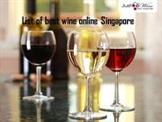 List of best wine online Singapore