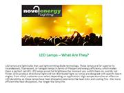 LED Lamps – What Are They?