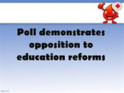 Poll demonstrates opposition to education reforms