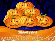 HALLOWEEN PUMPKINS VACATION POWERPOINT BACKGROUND