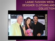 Lakme fashion Week - designer clothing and collection