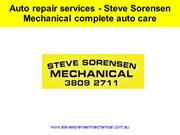 Auto repair services - Steve Sorensen Mechanical complete auto care