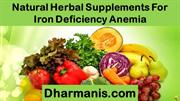 Natural Herbal Supplements For Iron Deficiency Anemia