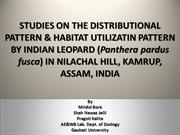 A studies on the distributional and habitat utilization pattern by
