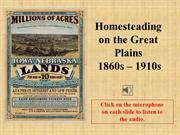 Homesteading on the Great Plains slideshow