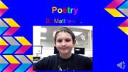 Poetry by Matthew