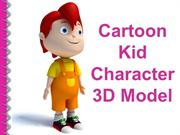 CARTOON KID CHARACTER 3D MODEL