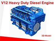 V12 HEAVY DUTY DIESEL ENGINE