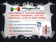 SAP project system module Online Training - SAP ps Training - SAP ps f
