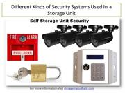Different Kinds of Security Systems Used In a Storage Unit -Storage Ab