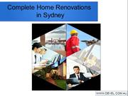 Complete Home Renovations in Sydney
