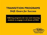 Transition Programs Ignition Slides (Summer 14)