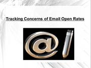 Tracking Concerns of Email Open Rates
