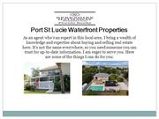 Port st Lucie waterfront properties