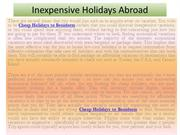 Cheap Holidays to Benidorm