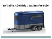 Reliable Adelaide Trailers for sale