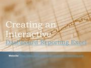 Creating an Interactive - Dashboard Reporting Excel