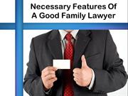 Necessary Features Of A Good Family Lawyer