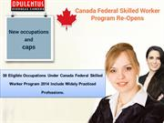 Canada Federal Skilled Worker Program 2014