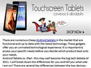 Here at Locogadgets we have the best quality cheap Android  tablets,