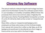 green screen background and chroma key software