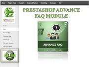 PrestaShop Advance FAQ Page Extension