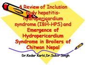 A Review of Inclusion body hepatitis-hyd