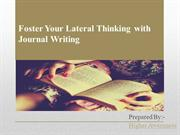 Foster Your Lateral Thinking with Journal Writing