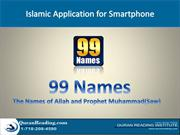my slide on 99names on 5 May