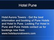 Hotel Pune, Business Hotel Pune.