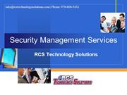 Security Management Services - RCS Technology Solutions