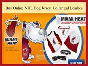 Buy NHL Dog Jersey Collar and Leashes