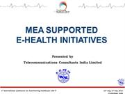 MEA Supported E-Health Initiatives