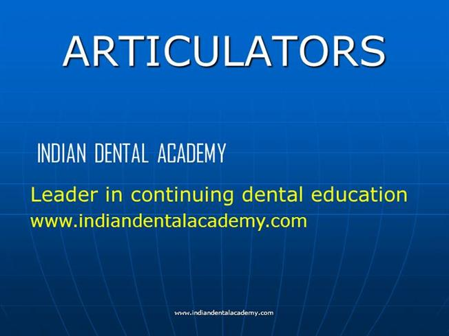 Articulators dental crown bridge courses authorstream ccuart Images