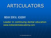 ARTICULATORS / Dental crown & bridge courses