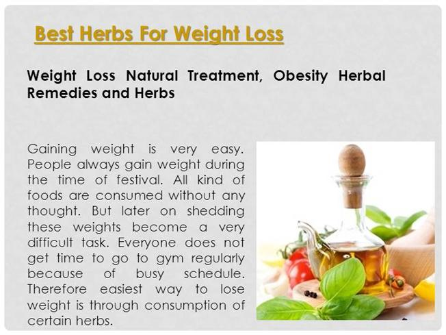 Best Herbs For Weight Loss Authorstream