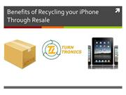 Benefits of Recycling your iPhone Through Resale