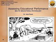Assessing Educational Performance