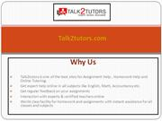 Assignment & Homework Help Online(Talk2tutors.com)